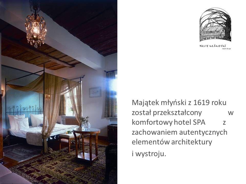 Majątek młyński z 1619 roku został przekształcony w komfortowy hotel SPA z zachowaniem autentycznych elementów architektury
