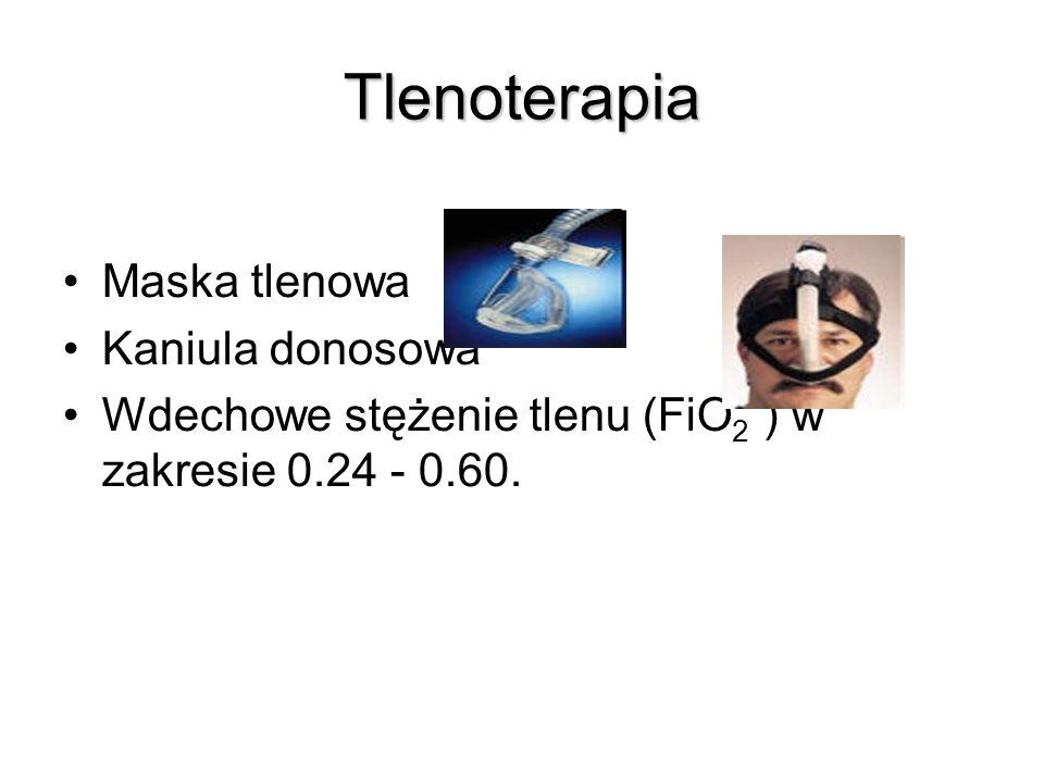 Tlenoterapia Maska tlenowa Kaniula donosowa