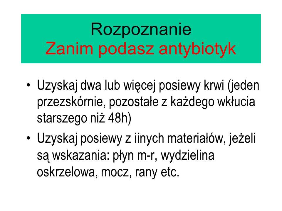 Rozpoznanie Zanim podasz antybiotyk