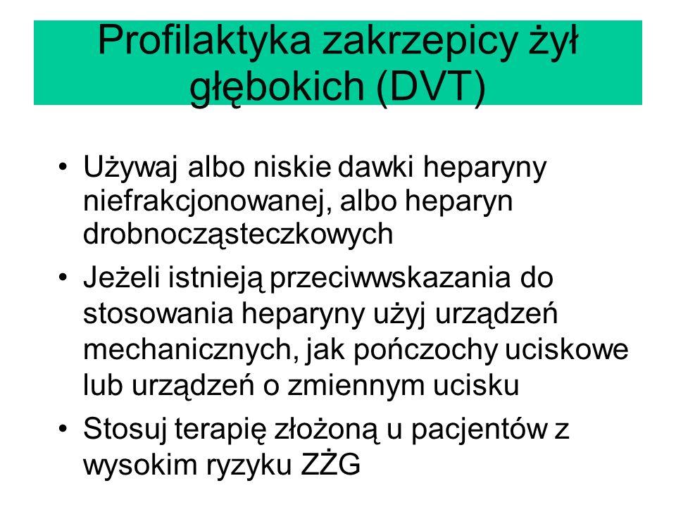Profilaktyka zakrzepicy żył głębokich (DVT)