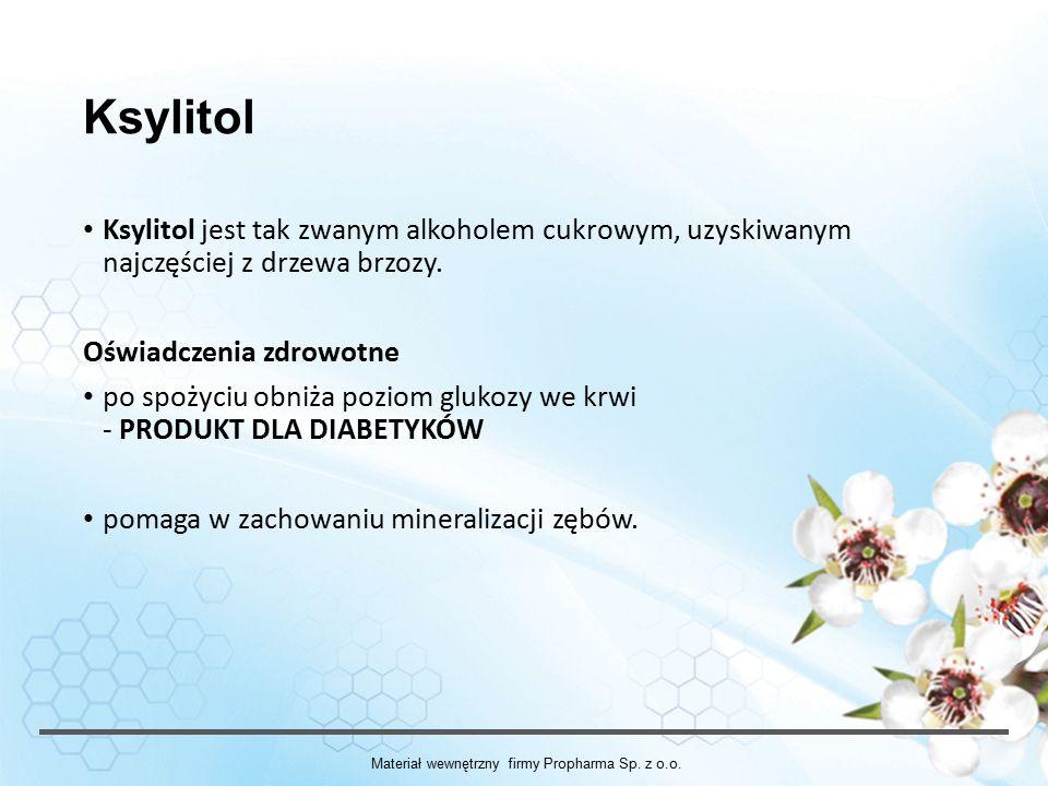 Materiał wewnętrzny firmy Propharma Sp. z o.o.
