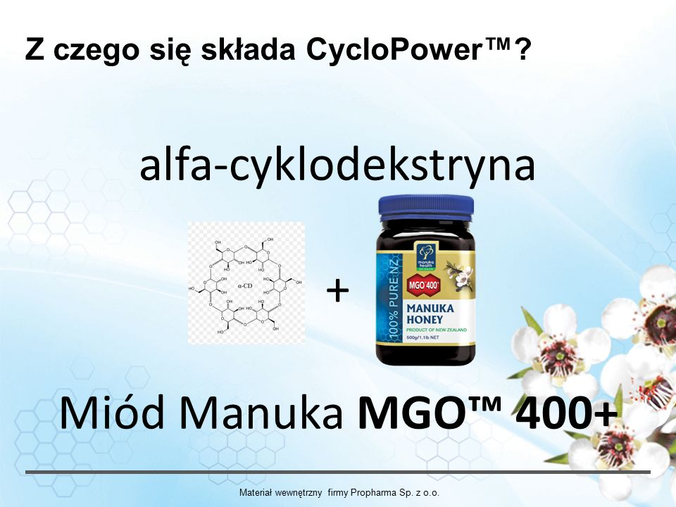 alfa-cyklodekstryna + Miód Manuka MGO™ 400+