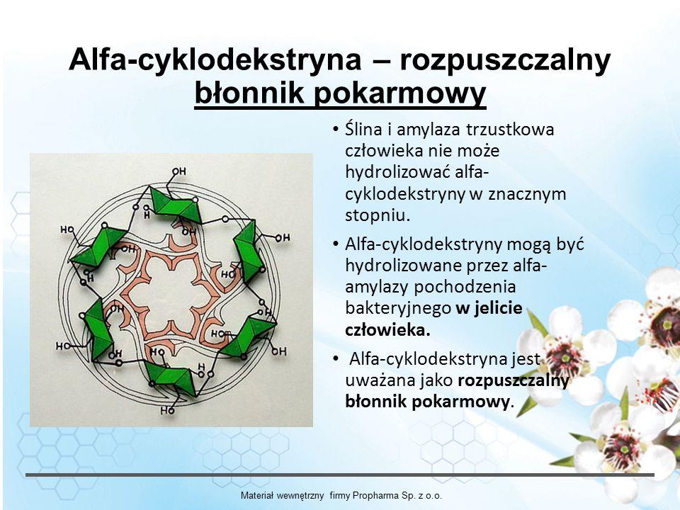 Alfa-cyklodekstryna – rozpuszczalny błonnik pokarmowy