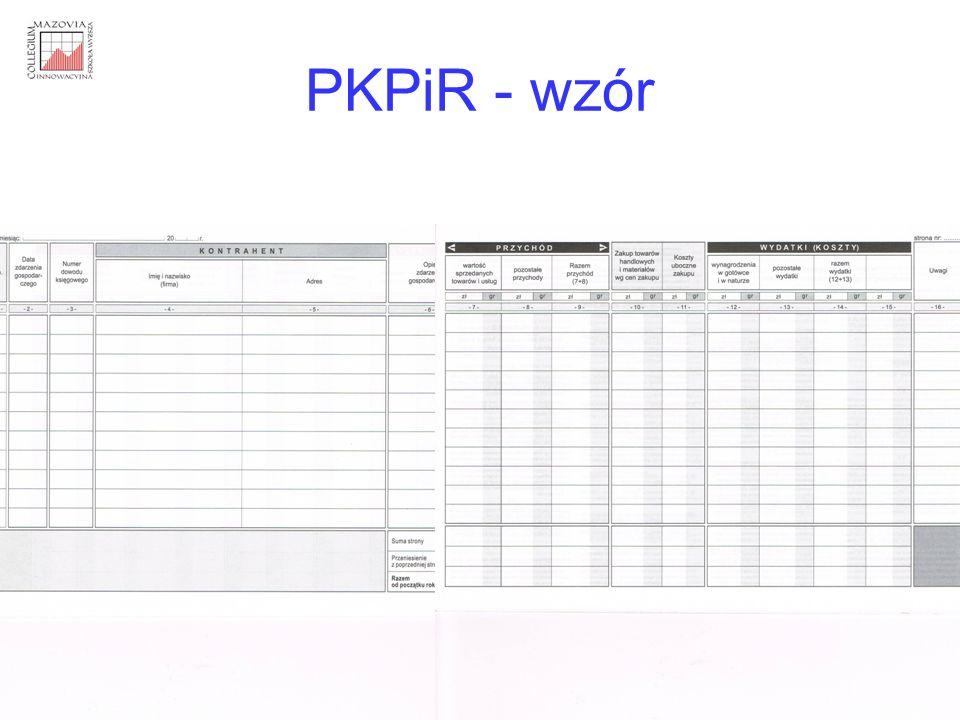 PKPiR - wzór