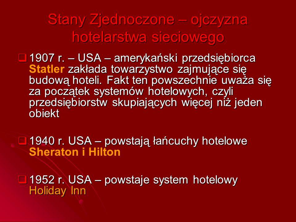 Stany Zjednoczone – ojczyzna hotelarstwa sieciowego