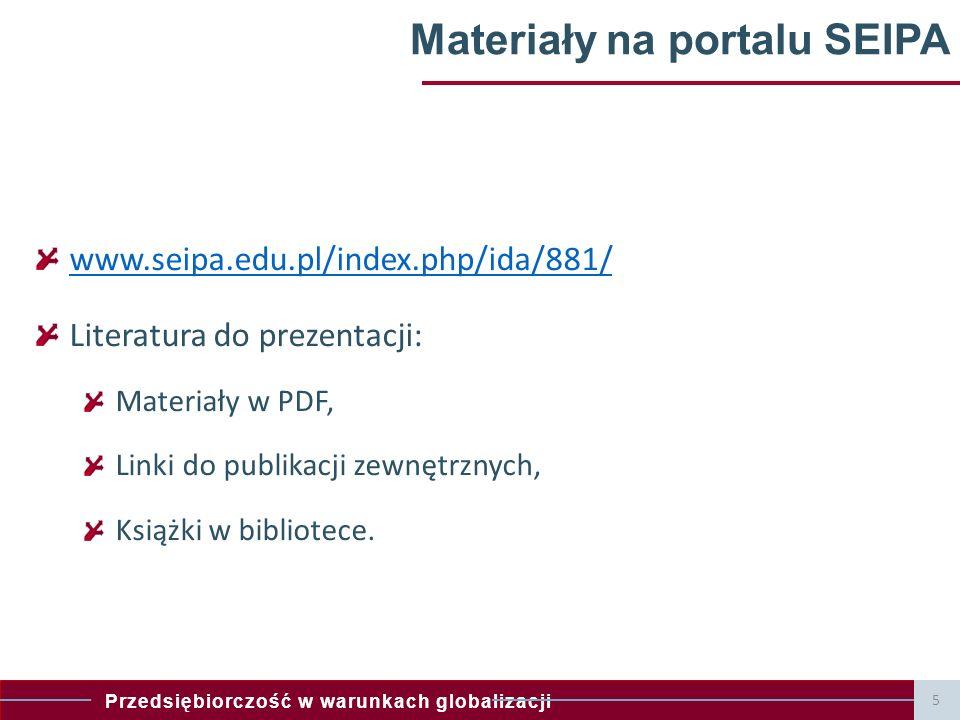 Materiały na portalu SEIPA