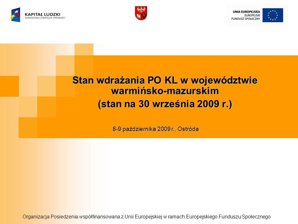 Stan wdrażania PO KL w województwie warmińsko-mazurskim