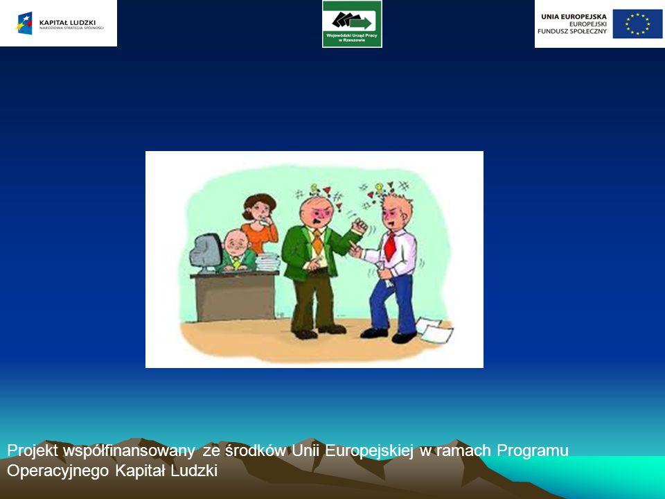 Projekt współfinansowany ze środków Unii Europejskiej w ramach Programu Operacyjnego Kapitał Ludzki