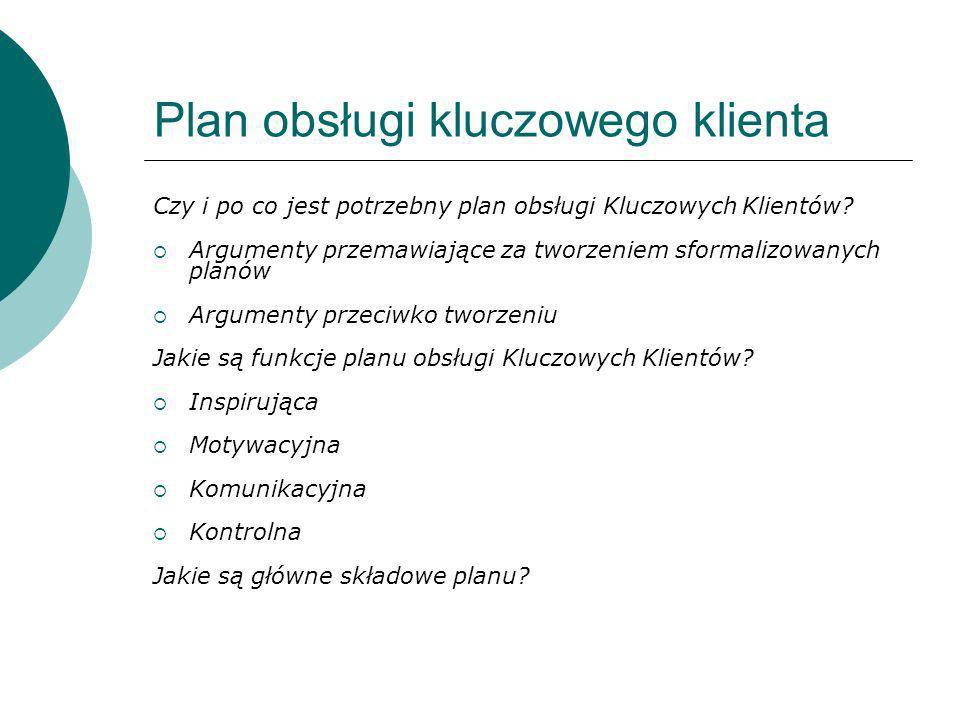 Plan obsługi kluczowego klienta