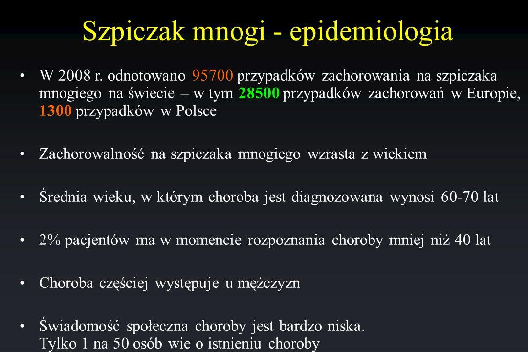 Szpiczak mnogi - epidemiologia