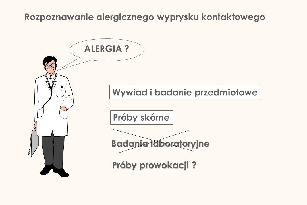 Rozpoznawanie alergicznego wyprysku kontaktowego