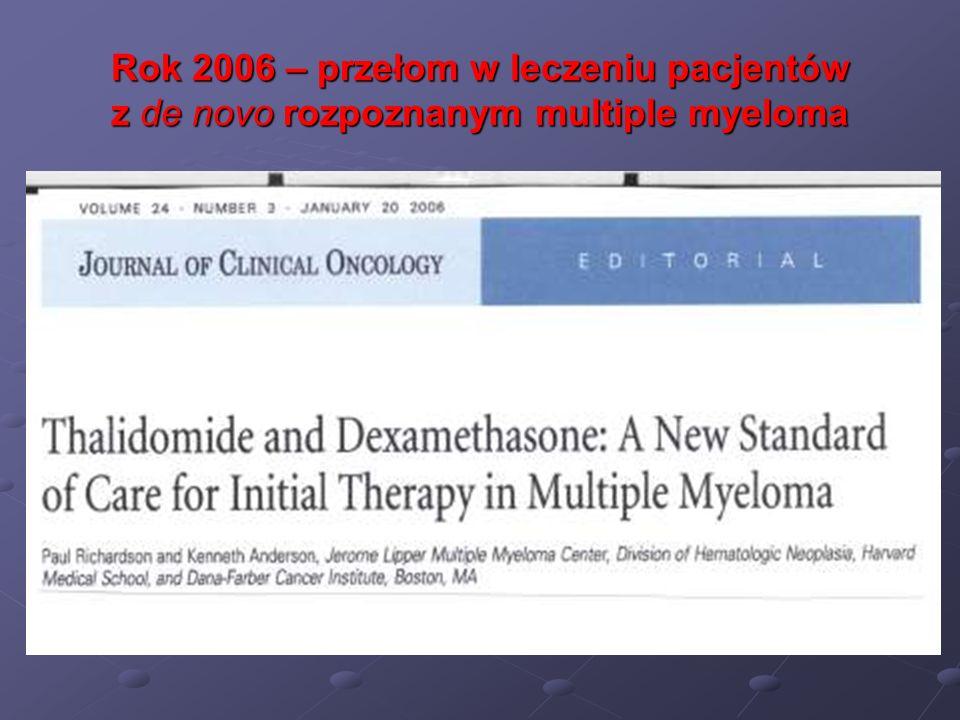 Rok 2006 – przełom w leczeniu pacjentów z de novo rozpoznanym multiple myeloma