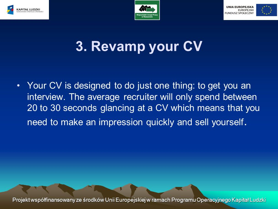 3. Revamp your CV