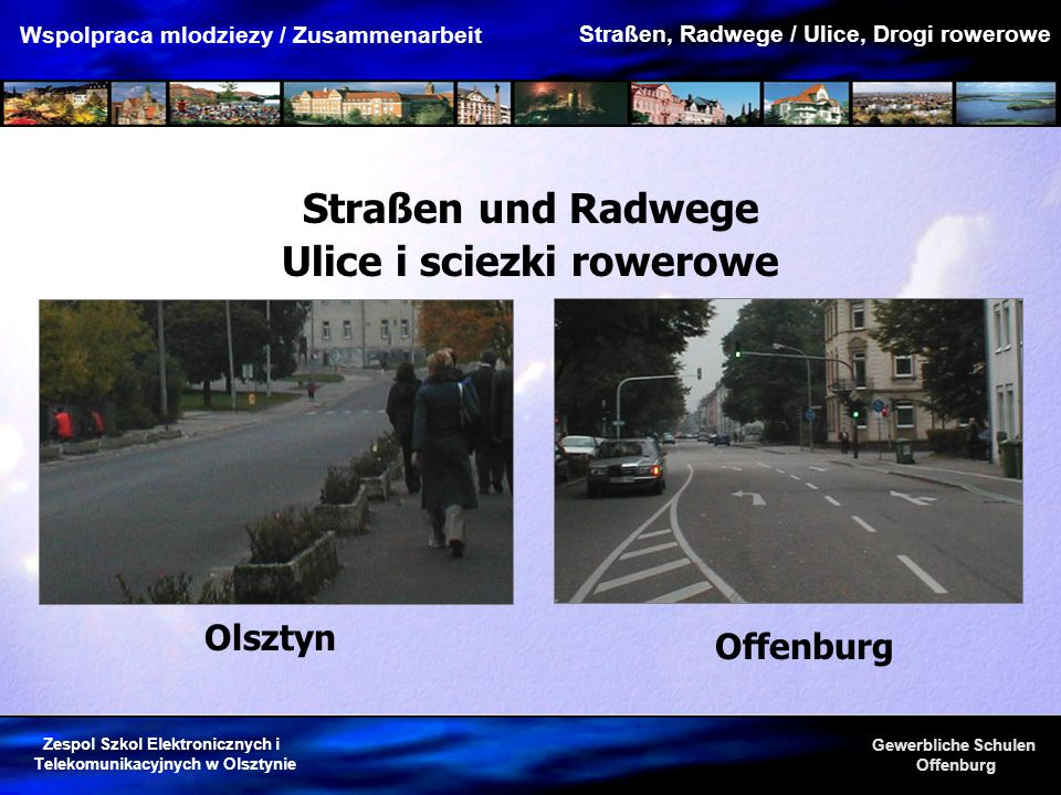 Ulice i sciezki rowerowe