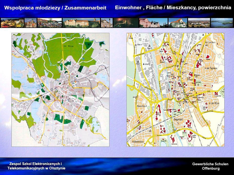 Einwohner , Fläche / Mieszkancy, powierzchnia