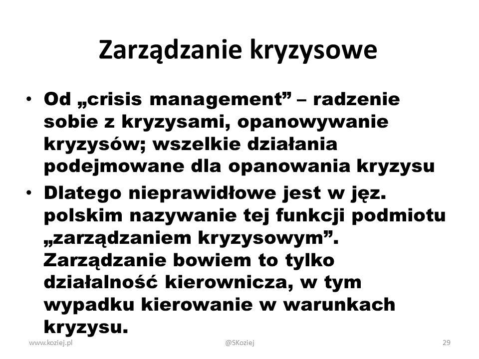 Zarządzanie kryzysowe