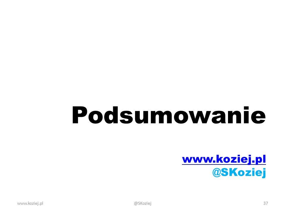 Podsumowanie www.koziej.pl @SKoziej