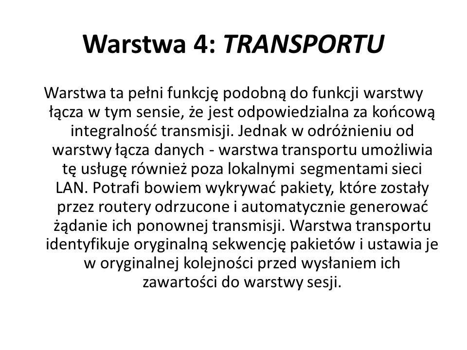 Warstwa 4: TRANSPORTU
