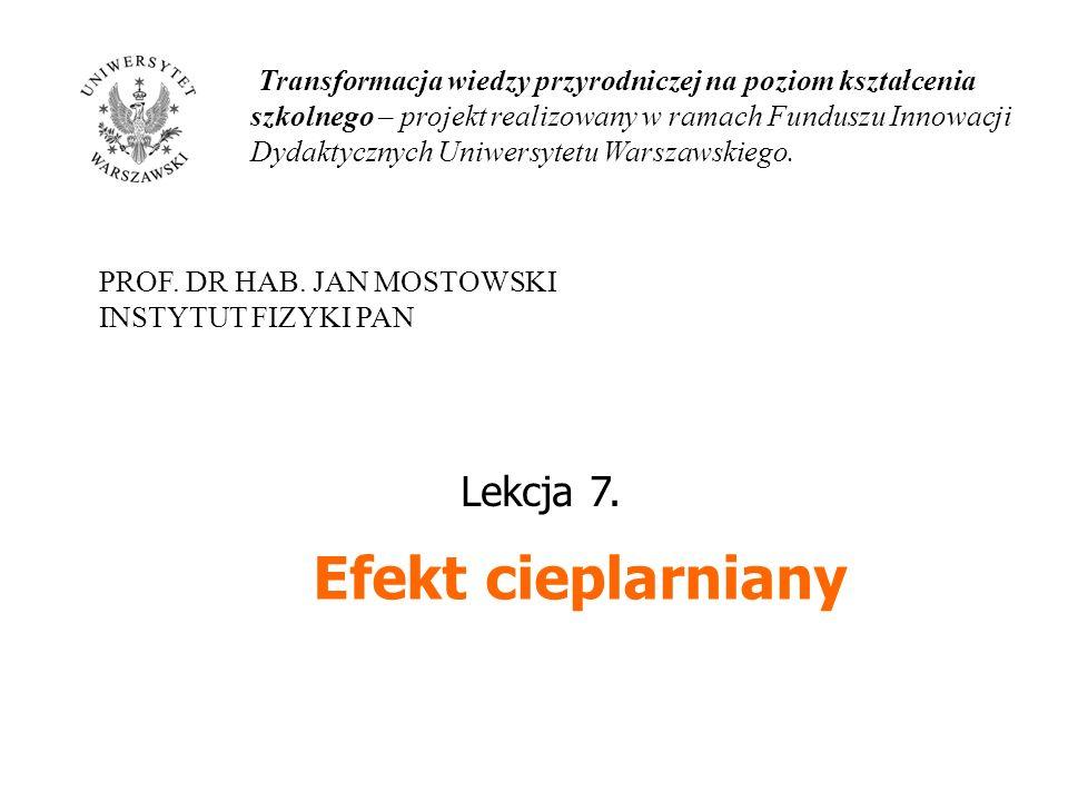 Efekt cieplarniany Lekcja 7.