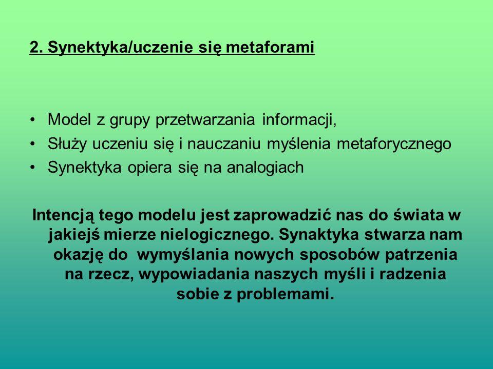 2. Synektyka/uczenie się metaforami