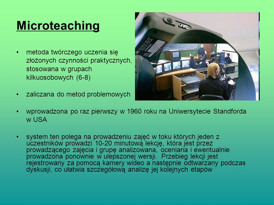 Microteaching metoda twórczego uczenia się