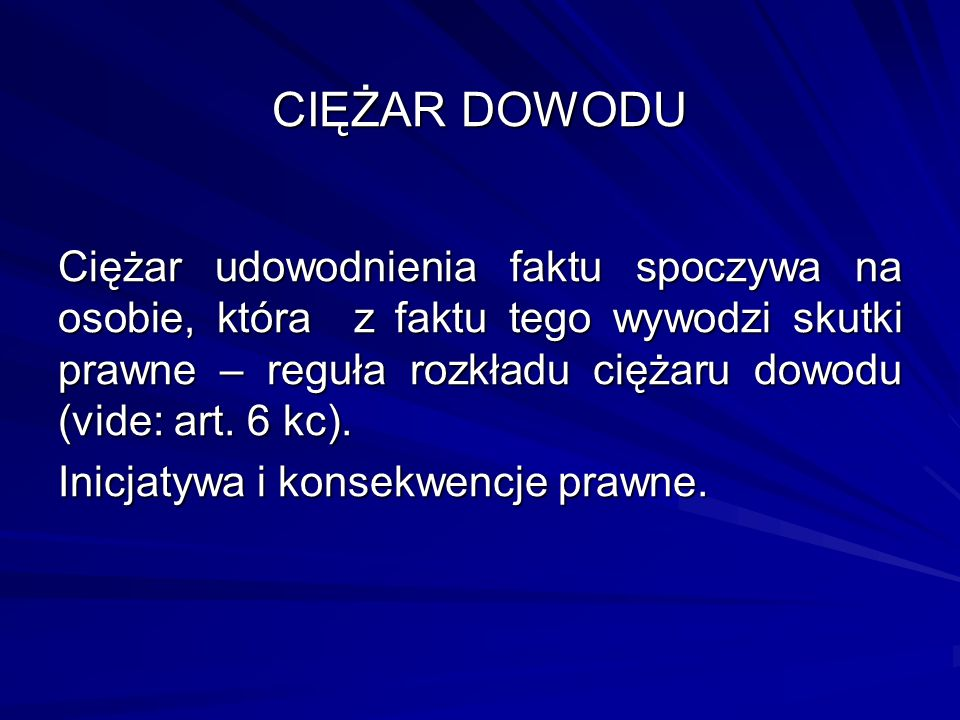 CIĘŻAR DOWODU