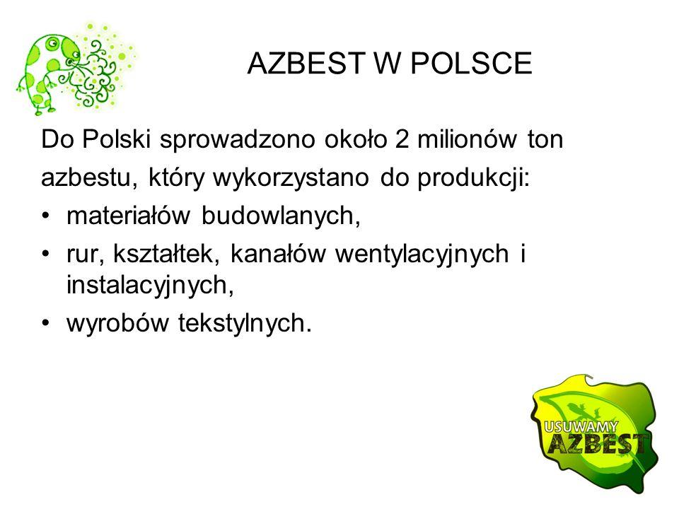 AZBEST W POLSCE Do Polski sprowadzono około 2 milionów ton
