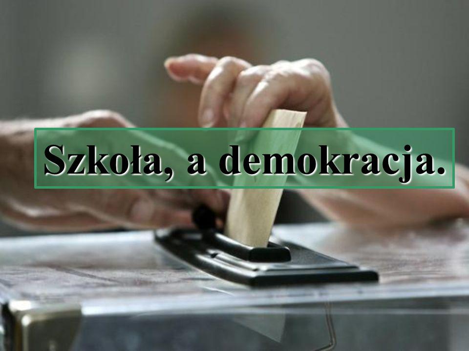 Szkoła, a demokracja.
