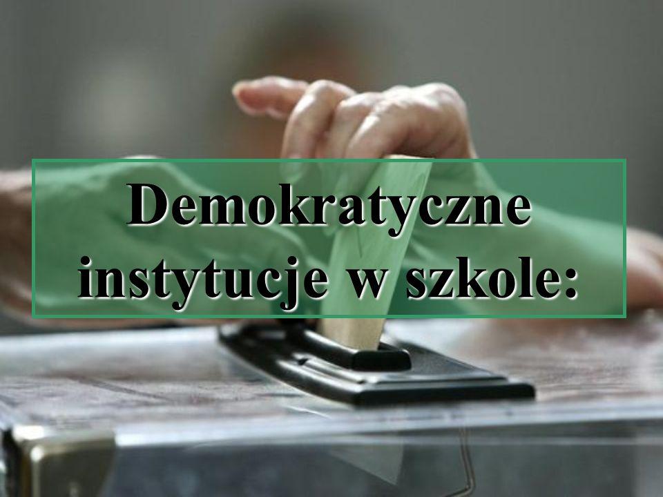 Demokratyczne instytucje w szkole:
