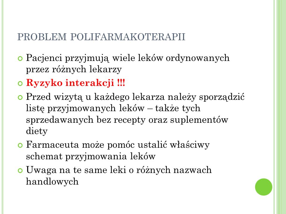 problem polifarmakoterapii