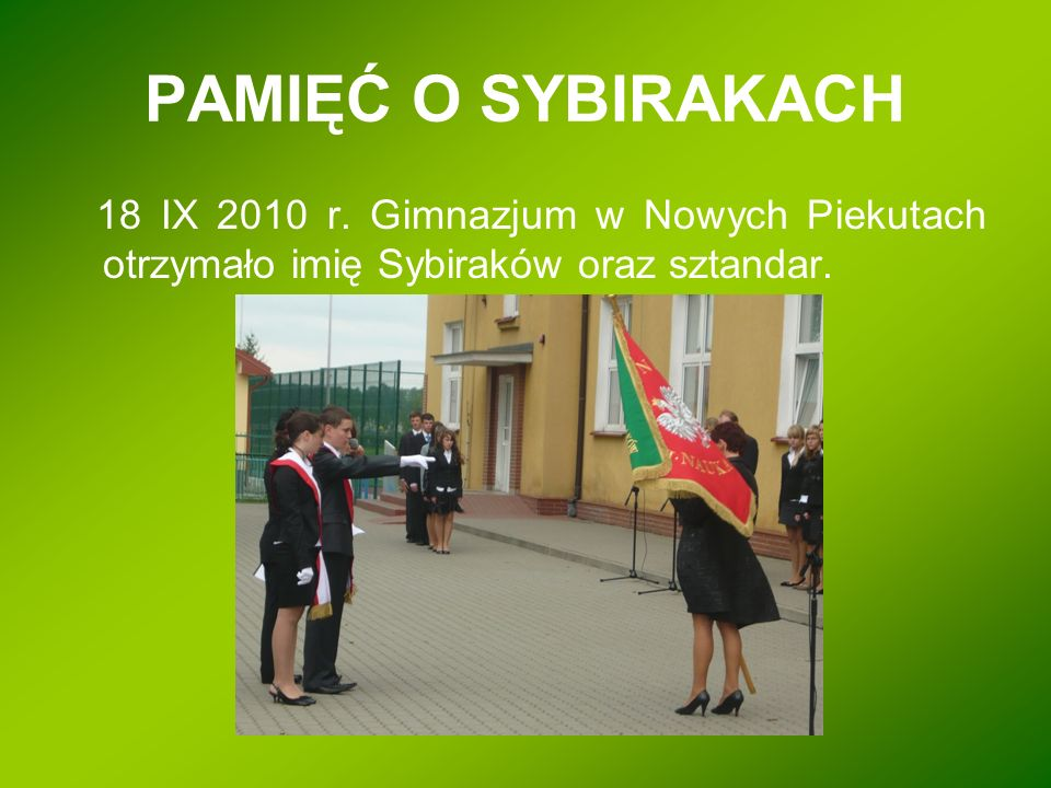 PAMIĘĆ O SYBIRAKACH 18 IX 2010 r.