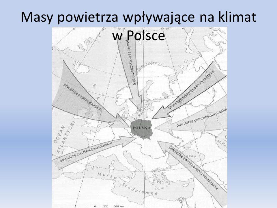 Masy powietrza wpływające na klimat w Polsce