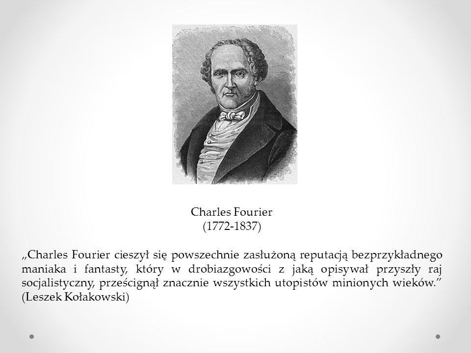 Charles Fourier (1772-1837)