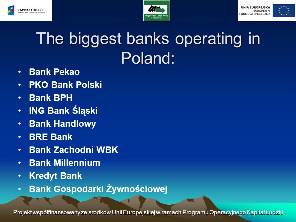 The biggest banks operating in Poland: