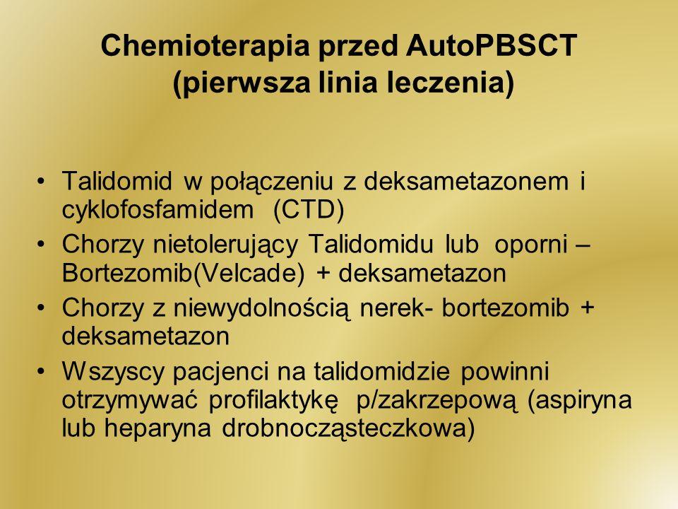 Chemioterapia przed AutoPBSCT (pierwsza linia leczenia)