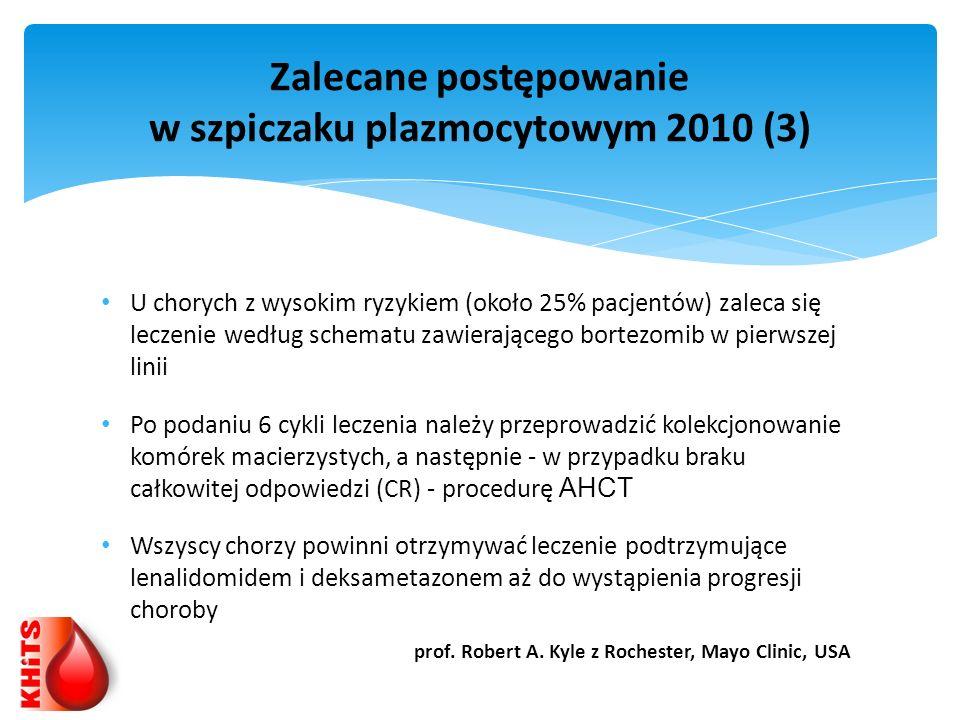 Zalecane postępowanie w szpiczaku plazmocytowym 2010 (3)