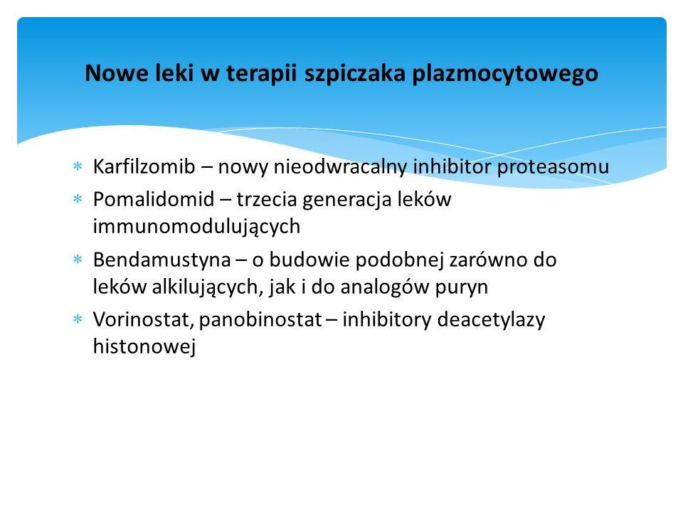 Nowe leki w terapii szpiczaka plazmocytowego