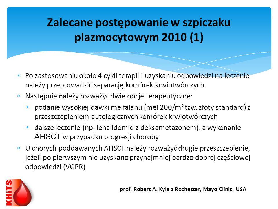 Zalecane postępowanie w szpiczaku plazmocytowym 2010 (1)