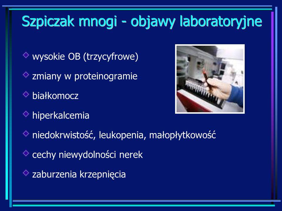 Szpiczak mnogi - objawy laboratoryjne