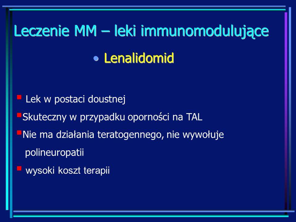 Leczenie MM – leki immunomodulujące