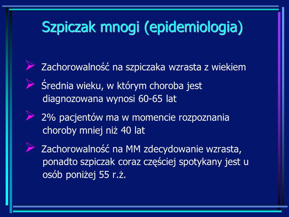 Szpiczak mnogi (epidemiologia)
