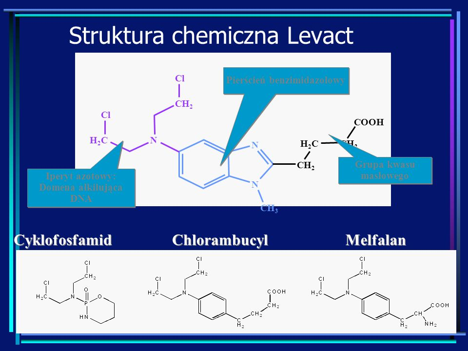 Struktura chemiczna Levact