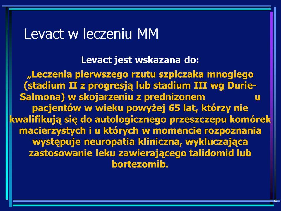 Levact jest wskazana do: