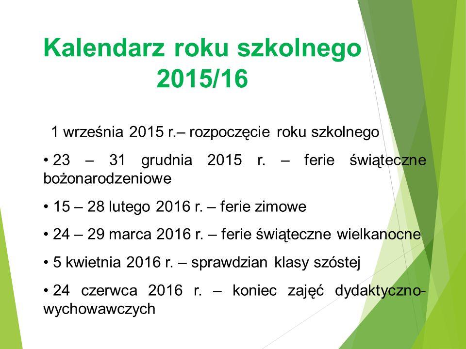 Kalendarz roku szkolnego