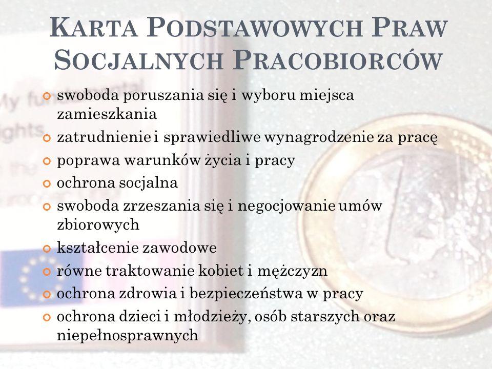 Karta Podstawowych Praw Socjalnych Pracobiorców