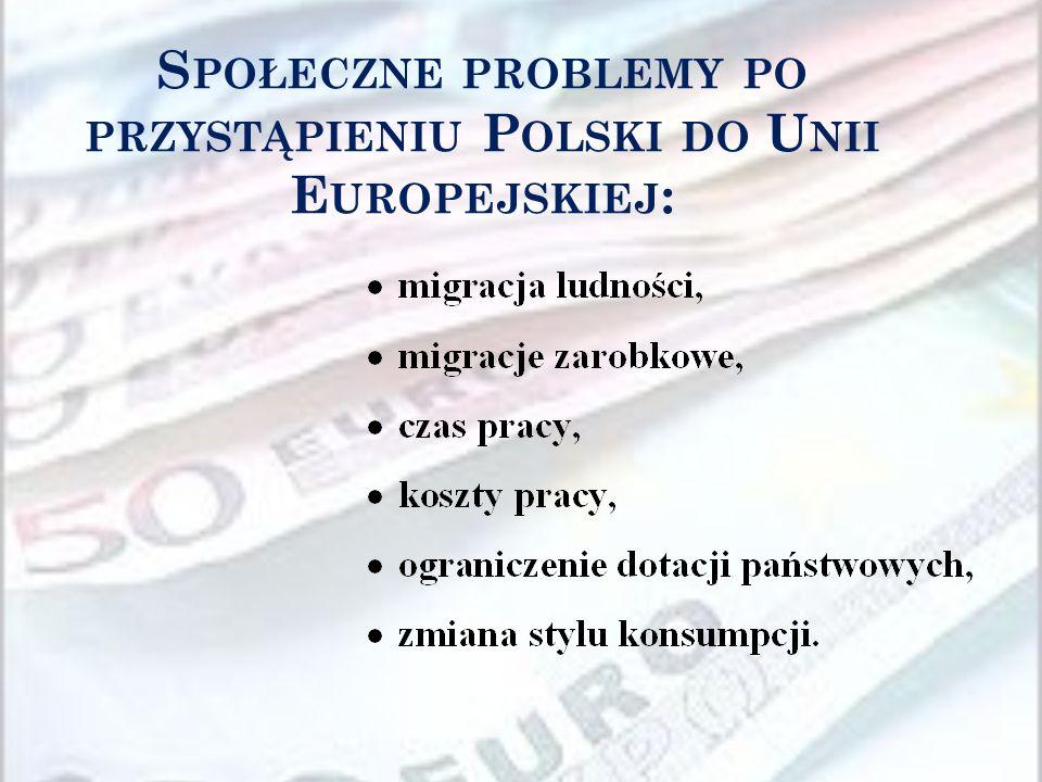 Społeczne problemy po przystąpieniu Polski do Unii Europejskiej: