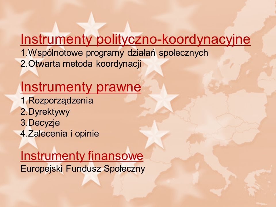 Instrumenty polityczno-koordynacyjne