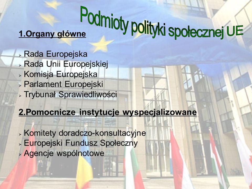 Podmioty polityki społecznej UE