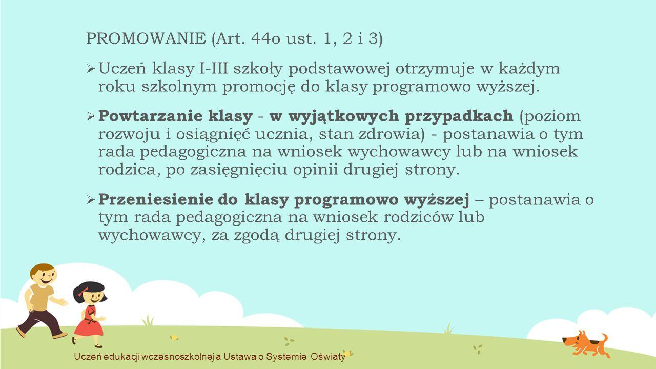 PROMOWANIE (Art. 44o ust. 1, 2 i 3)