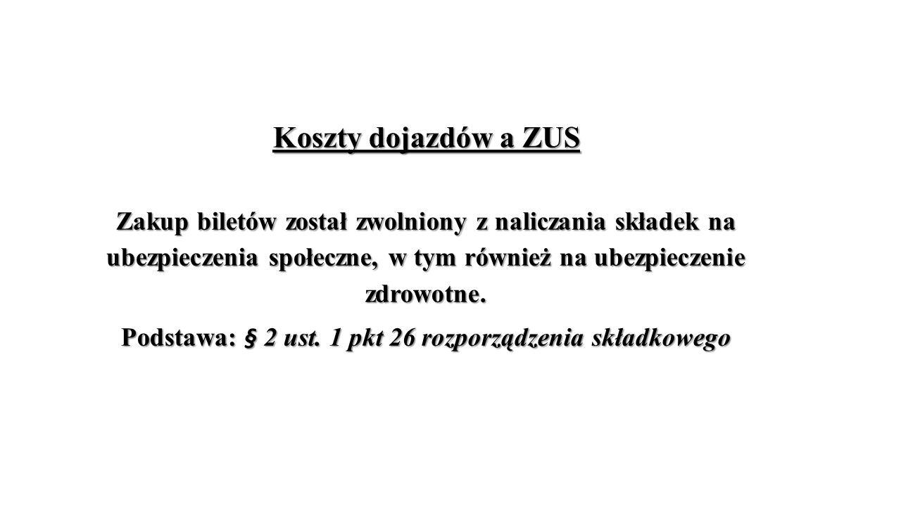 Podstawa: § 2 ust. 1 pkt 26 rozporządzenia składkowego